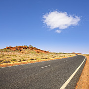 Curving Posters - Western Australia Pilbara Region Never Ending Long Curving Road  Poster by Colin and Linda McKie