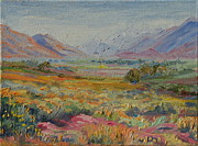 Thomas Bertram Poole Metal Prints - Western Cape Mountains Metal Print by Thomas Bertram POOLE
