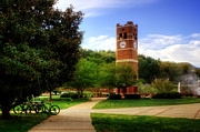 Wcu Prints - Western Carolina University Alumni Tower Print by Greg and Chrystal Mimbs