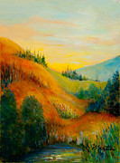 Cattail Paintings - Western Hills by Larry Martin