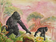 Gorilla Paintings - Western Lowland Independence by Lynn Maverick Denzer