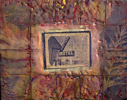 Encaustic Paintings - Western Motel by Gloria De los Santos