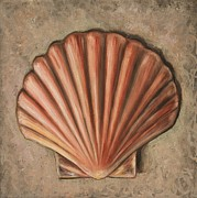 Seashell Painting Framed Prints - Western Shell Framed Print by Eve  Wheeler
