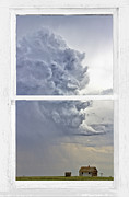 Picture Window Frame Photos Art - Western Storm Farmhouse Window Art View by James Bo Insogna