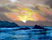 Water Pastels - Western Sunset by Judy Sprague