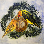 Vermont Paintings - Western Tanager by Donna Walsh