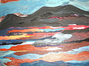 Desert View Paintings - Western Vista by Judy Dow