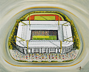 Football Pictures Prints - Westfalonstadion - Borussia Dortmund Print by D J Rogers