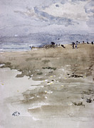 Sandy Beaches Painting Prints - Westgate Print by James Abbott McNeill Whistler