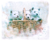 Puppies Mixed Media - Westie Cuties by Tori Beveridge