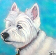 Westie Puppies Prints - Westie Print by Darren Robinson