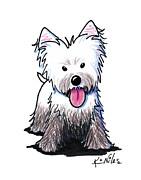 Westie Muddy Westie Print by Kim Niles