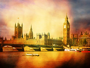London England  Digital Art - Westminster 2 by Heidi Hermes