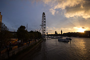 London Skyline Art - Westminster Sunset by Dawn OConnor