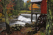 Grist Mill Prints - Weston Grist Mill Print by Priscilla Burgers