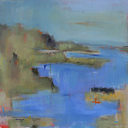 Abstract Beach Landscape Art - Westport River by Jacquie Gouveia