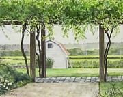 Winery Paintings - Westport Rivers Winery by Carol Flagg