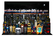 City Scape Paintings - Westside Looking Towards the Hudson by Robert Handler