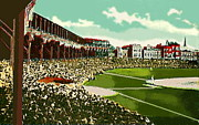 Baseball Stadiums Painting Framed Prints - Westside Park Baseball Stadium In Chicago Il In 1914 Framed Print by Dwight Goss