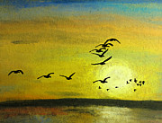 Canadian Geese Mixed Media - Westward by R Kyllo