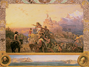 Pioneers Framed Prints - Westward the Course of Empire Takes Its Way Framed Print by Emanuel Gottlieb Leutze