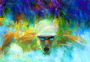 Athletics Digital Art Metal Prints - Wet And Wild Metal Print by Lourry Legarde