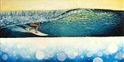 Surf Art Posters - Wet Dream Poster by Kelly Meagher
