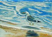 Wet Feet - Shore Bird Print by Shelia Kempf
