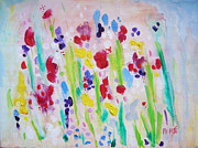 Pare Prints - Wet Flowers Print by Mariam Pare