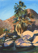 Canyons Paintings - Wet Palms by Jayne Schelden