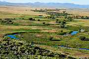 Northern Colorado Prints - Wetlands and Meanders of the Arapaho National Wildlife Refuge in North Park Colorado Print by Robert Ford