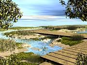 Shore Prints - Wetlands Print by John Pangia
