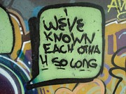 Speech Balloon Prints - Weve known each otha Print by Kevin Knights