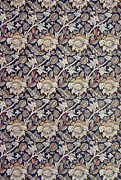 Yellow Tapestries - Textiles Prints - Wey design Print by William Morris