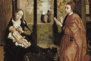 Jesus With Boy Framed Prints - Weyden, Rogier Van Der  1400-1464. St Framed Print by Everett