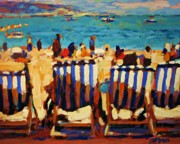 Canadian Sports Artist Prints - Weymouth Beach Print by Brian Simons