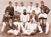 1886 Mixed Media - WG Grace - England 1886 by Charles Ross