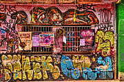 Graffiti Art For The Home Posters - Whacky windows Poster by Graham Hawcroft pixsellpix