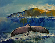 Whale Painting Posters - Whale Song Poster by Michael Creese