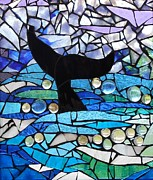 Mosaic Mixed Media - Whale Tail by Catherine Van Der Woerd