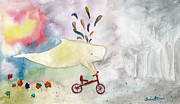 Burcu Alisan - Whale With Red Bicycle