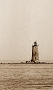 Maine Lighthouses Posters - Whaleback Lighthouse Poster by Skip Willits