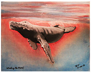 Whale Pastels Framed Prints - Whaling No More Framed Print by Bob Timmons