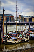 Historic Schooner Prints - Wharf Ships Print by Heather Applegate