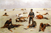 Famous Artists - What an unbranded cow has cost by Frederic Remington