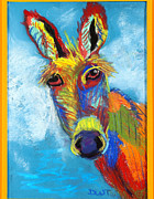 Donkey Pastels Prints - What fun is This guy Print by Diana Tripp
