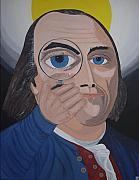 Founding Fathers Painting Metal Prints - What have you done Metal Print by Dean Stephens