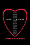 Inspirational Cards Posters - What Is In Your Heart Poster by Christine Campbell
