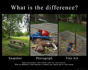 Field Of Real Posters - What is the Difference Poster by Peter Piatt