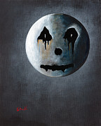 Man-in-the-moon Metal Prints - What Its Like Without You - Gothic by Shawna Erback Metal Print by Shawna Erback